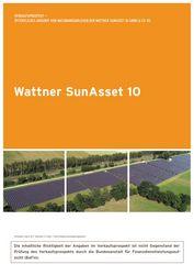 Vermögensanlage Wattner SunAsset 10 ab dem 03.12.2020 verfügbar